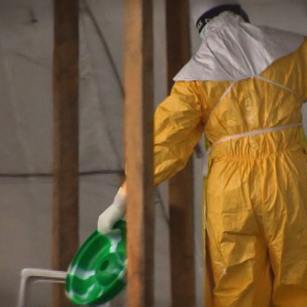 Ebola worker in West Africa