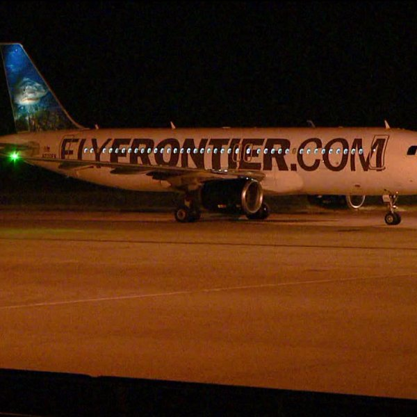 Frontier Airlines jet that carried Ebola patient arrives in Denver for decontamination
