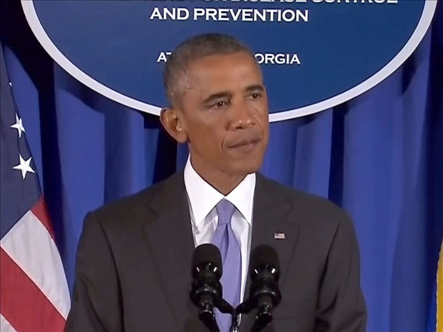 President Obama speaks to press at the CDC in Atlanta