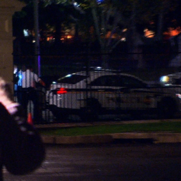 The first fence jumper at the White House since Omar Gonzalez barely made it over before being detained by Secret Service. Photo: David Catrett/CNN