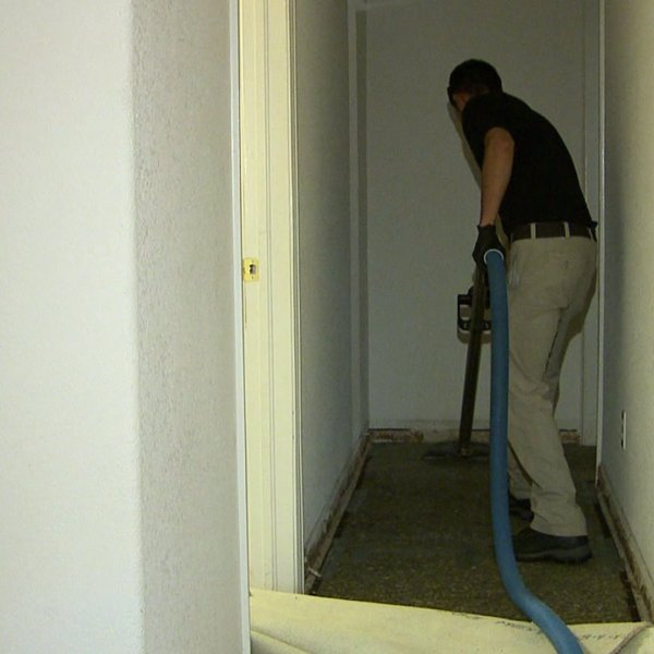 Clean up after a water pipe burst