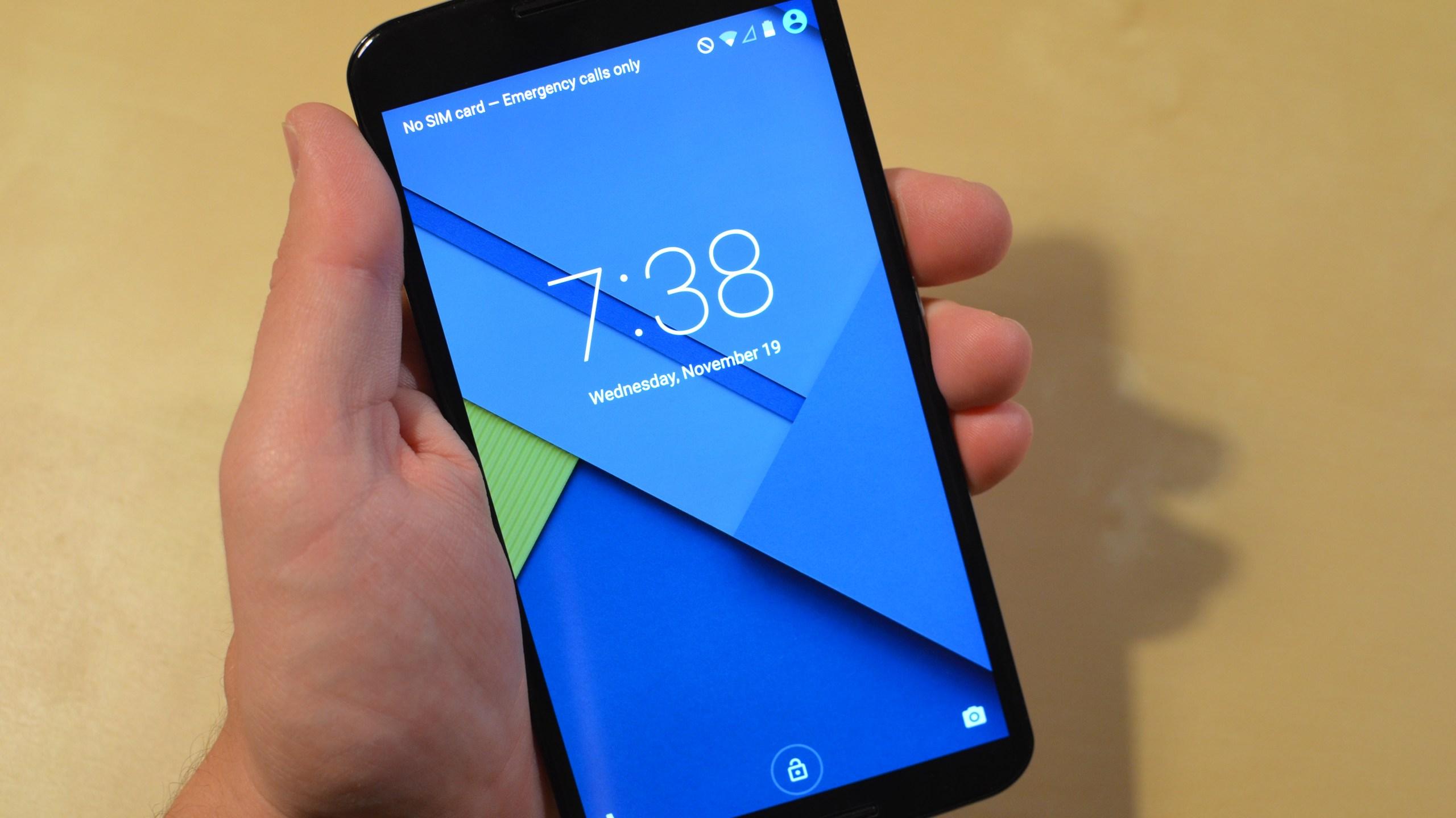 Front of Google Nexus 6 by Motorola