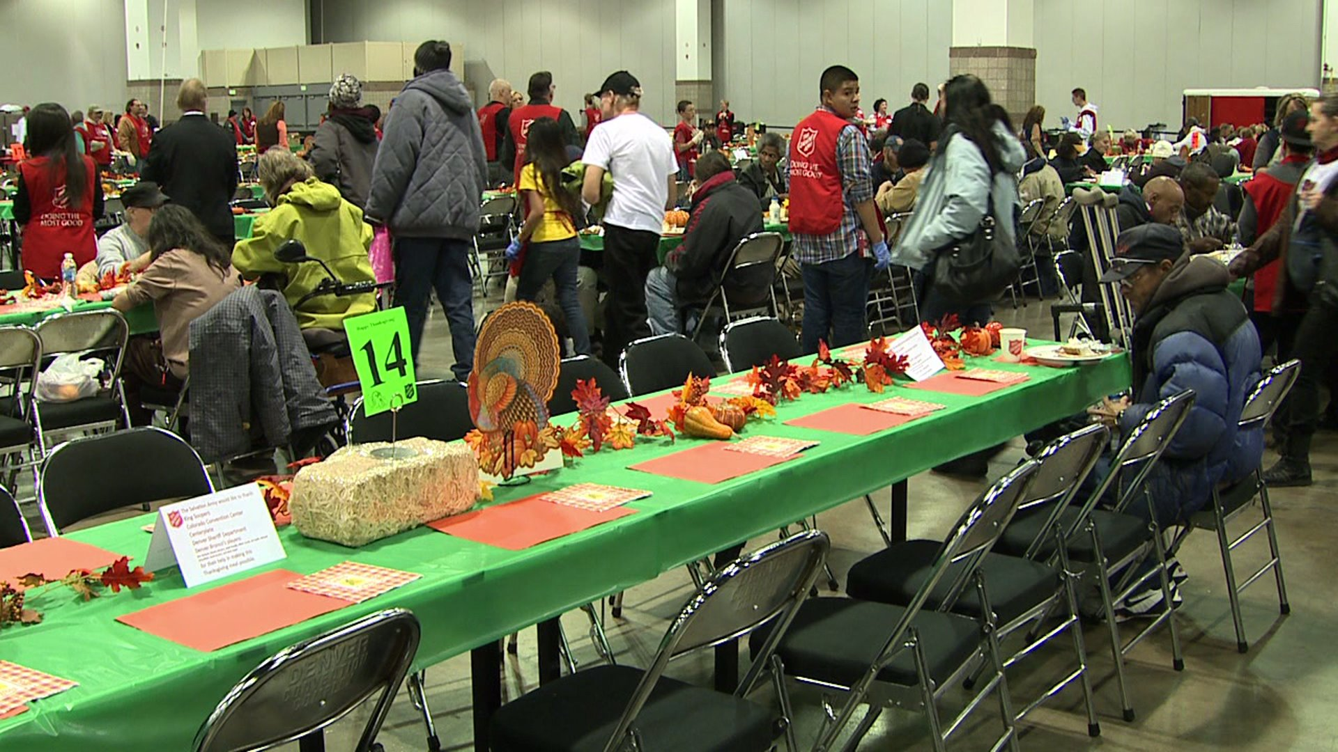 Salvation Army Thanksgiving meal in downtown Denver