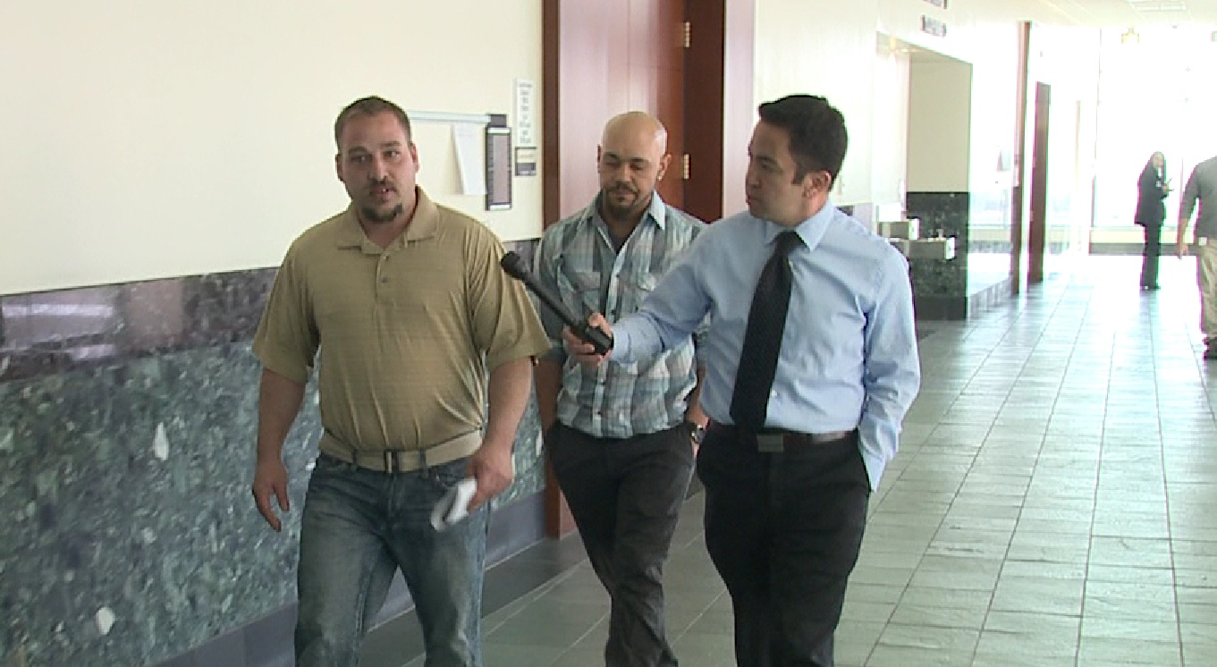 Ben Aberle and Don Lundahl, owners of Mafia Movers, talking with FOX31 Denver investigative reporter Tak Landrock.
