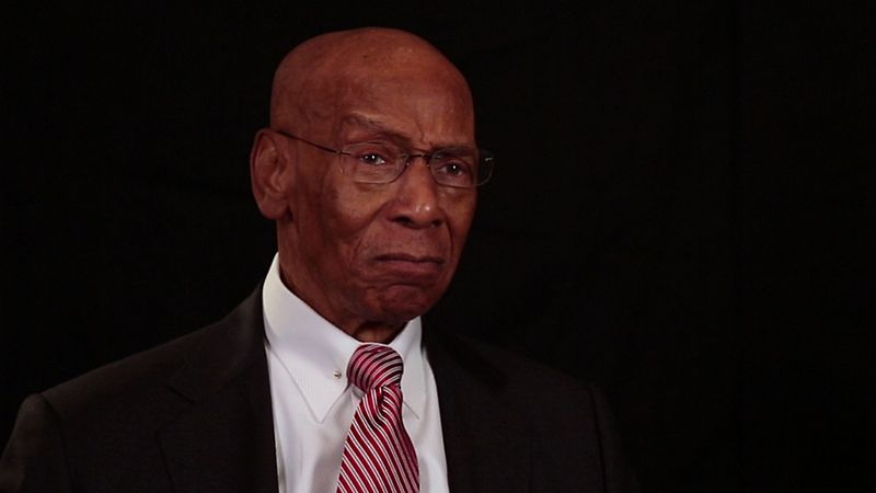 Ernie Banks during presentation of Presidential Medal of Freedom at White House in 2013