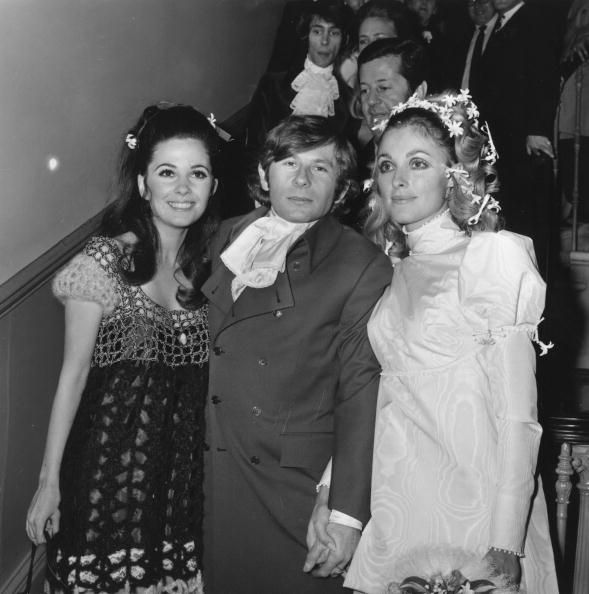 20th January 1968: The wedding of Polish film director Roman Polanski and actress Sharon Tate (1943 - 1969) (right) at Chelsea Registry Office, London. She was subsequently murdered by members of Charles Manson's pseudo-religious sect The Family. (Photo by Reg Burkett/Express/Getty Images)