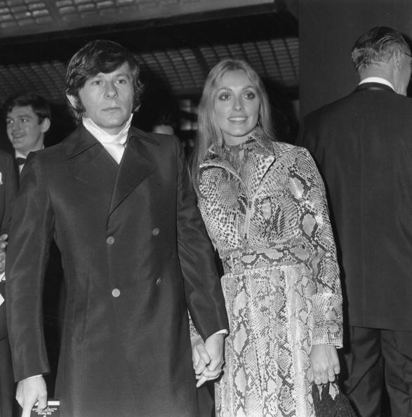 24th January 1969: Polish film director Roman Polanski arriving at the premiere of his film 'Rosemary's Baby' with his second wife American film actress Sharon Tate (1943 - 1969). (Photo by William Milsom/Evening Standard/Getty Images)