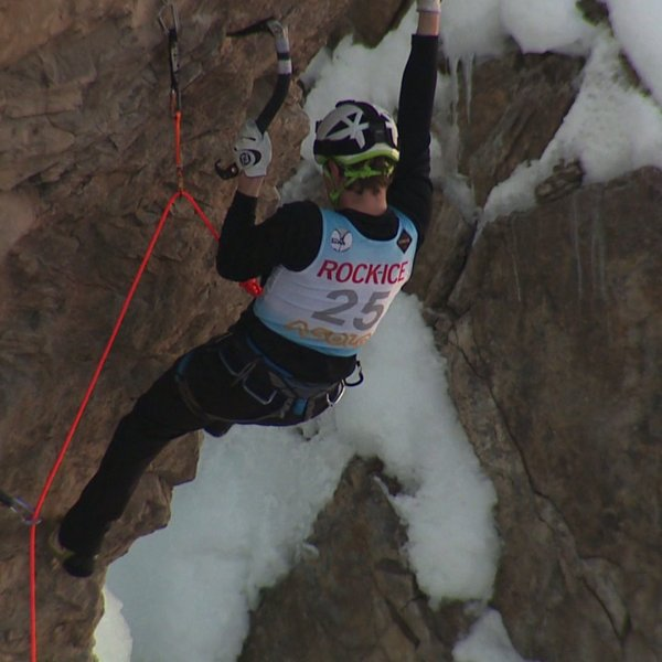 Ice climbing at Ouray Ice Festival
