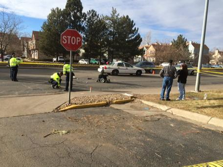 Truck hit pedestrian in wheelchair at Mississippi and Peoria