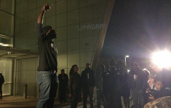Protesters at District 2 police station in Denver