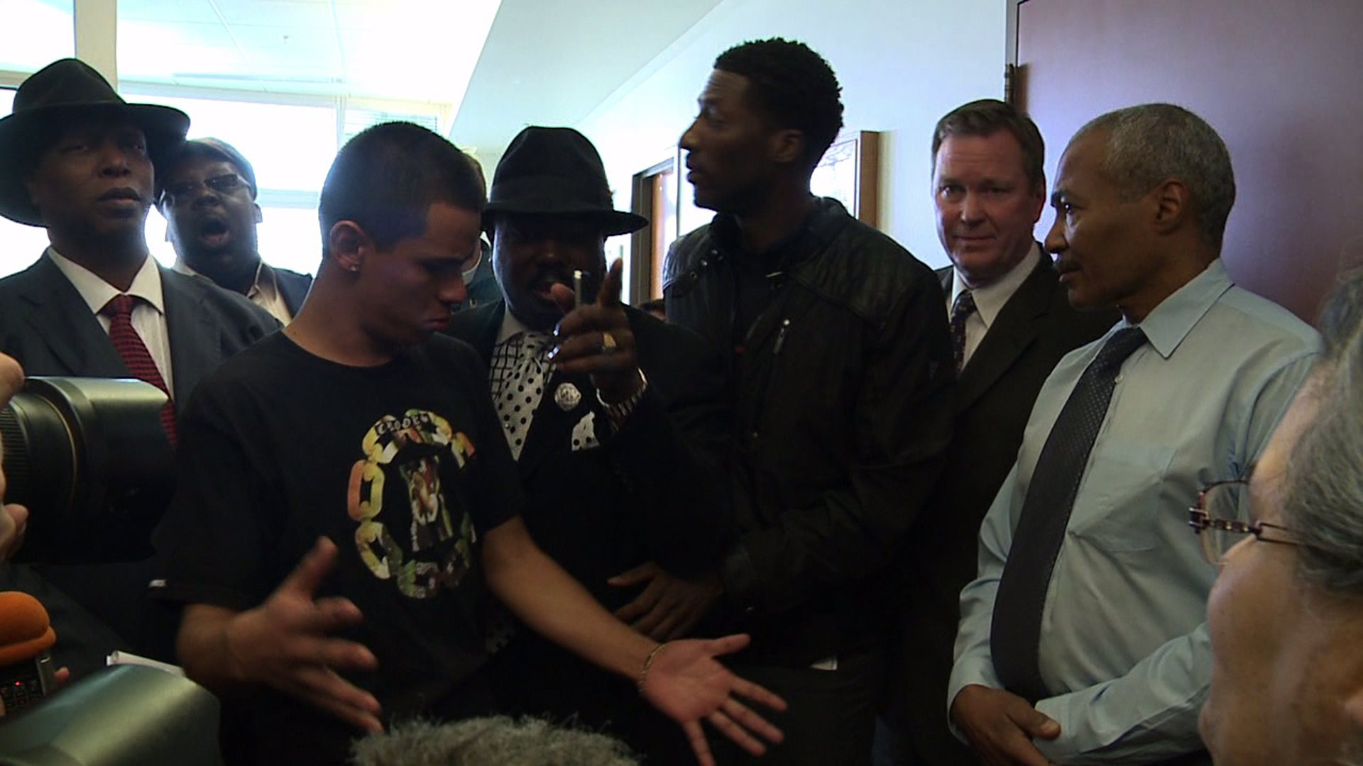 Protesters in DA's office after girl killed in police shooting