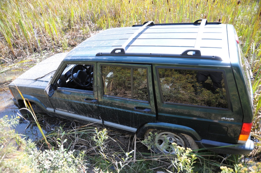 Related to the search for Eric Frein police released this photo. This photo shows Frein's 2001 Jeep Cherokee Sport.