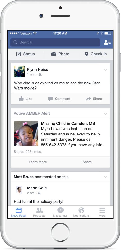 Facebook announced Tuesday, Jan. 13, 2015, that it will begin sending Amber Alerts in an effort to help find missing children. The social media site will work with the National Center for Missing and Exploted Children to issue the alerts to users within the search area.