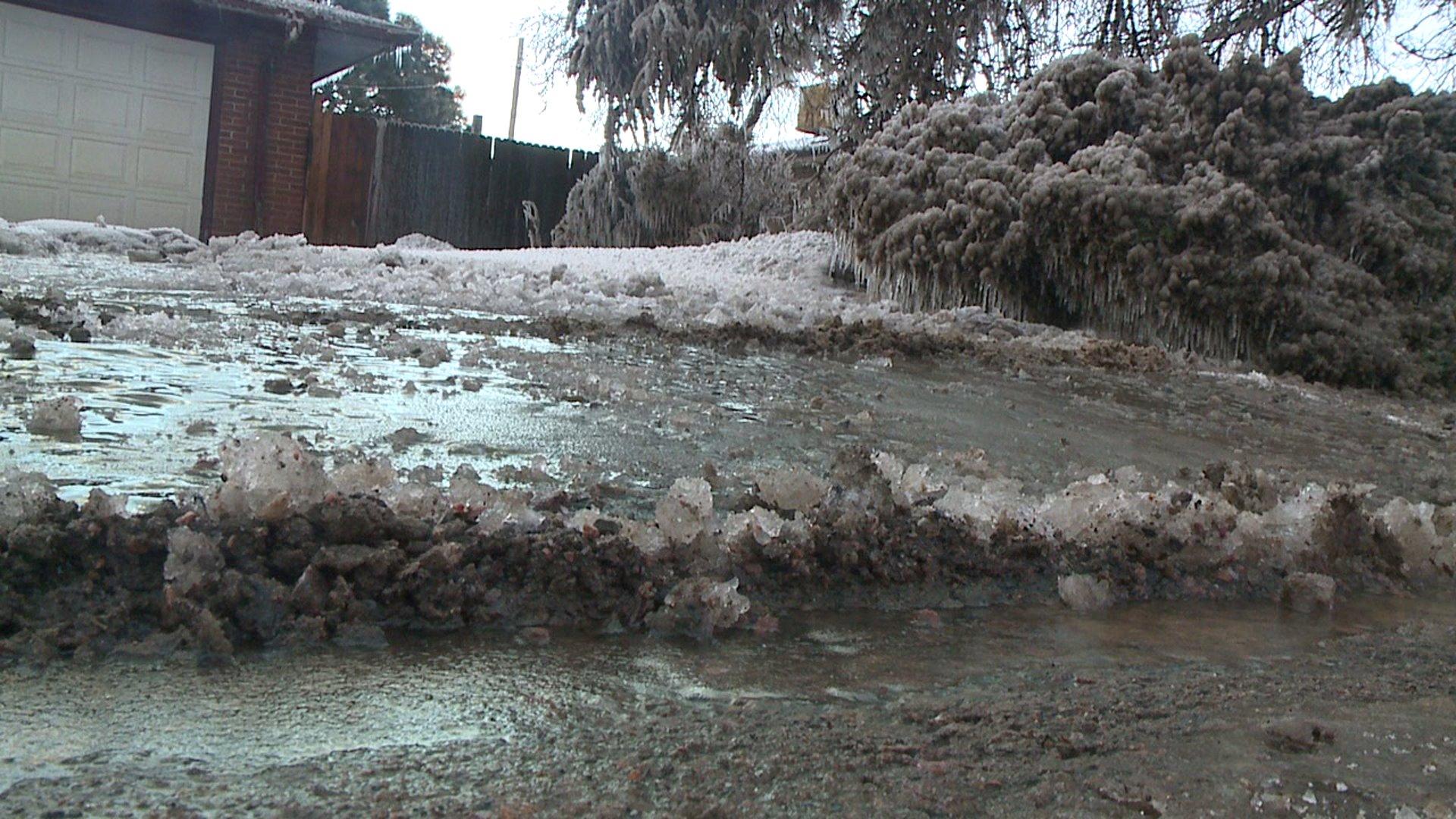 Water main break an icy nightmare for Lakewood neighborhood