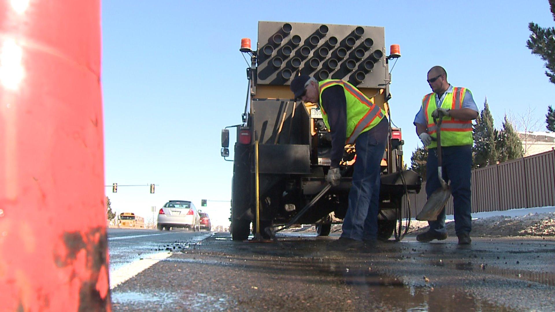 Crews fix potholes in metro Denver