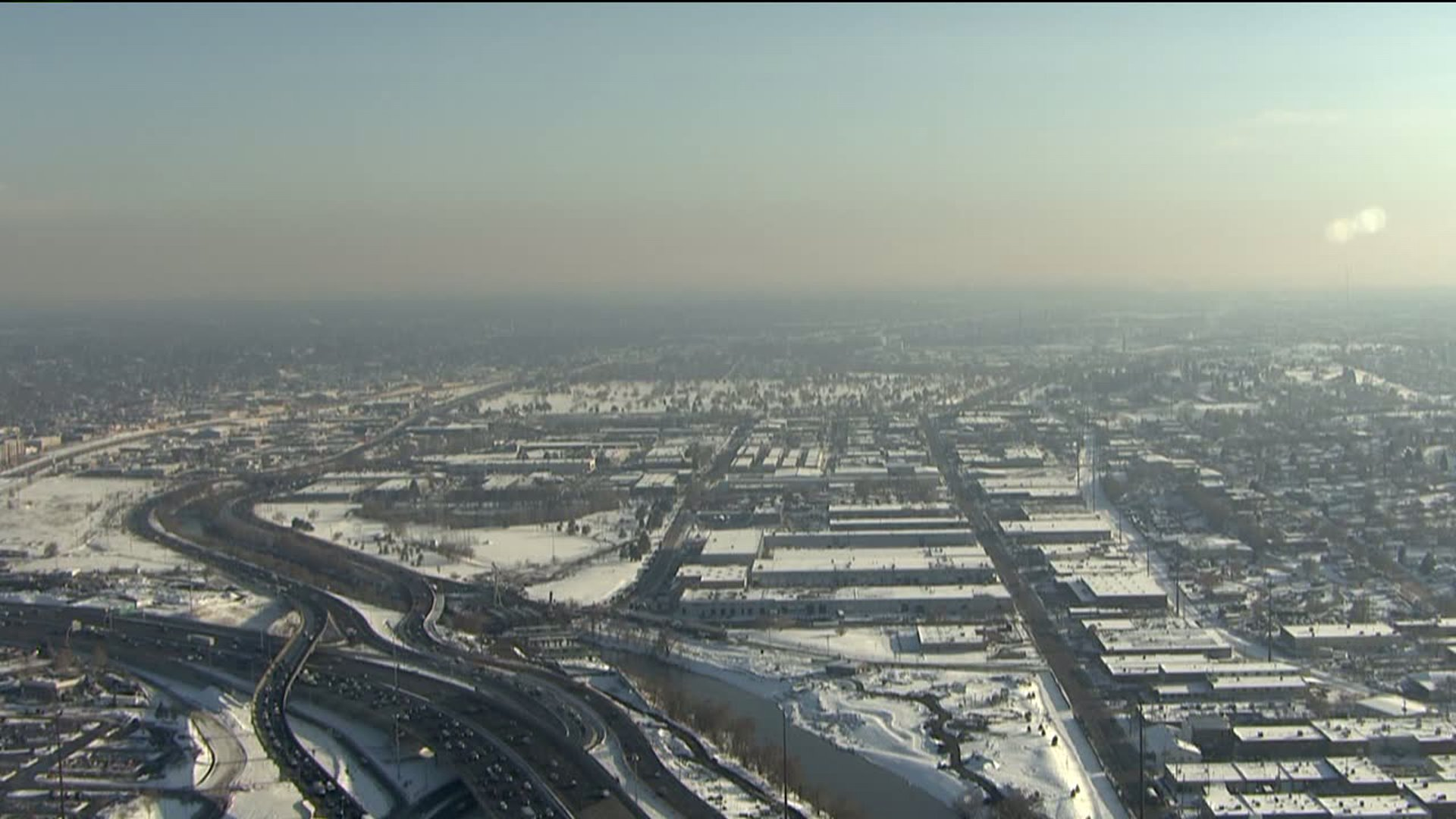 Denver from SkyFOX. Feb. 23, 2015