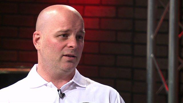 University of Denver Hockey Coach Jim Montgomery
