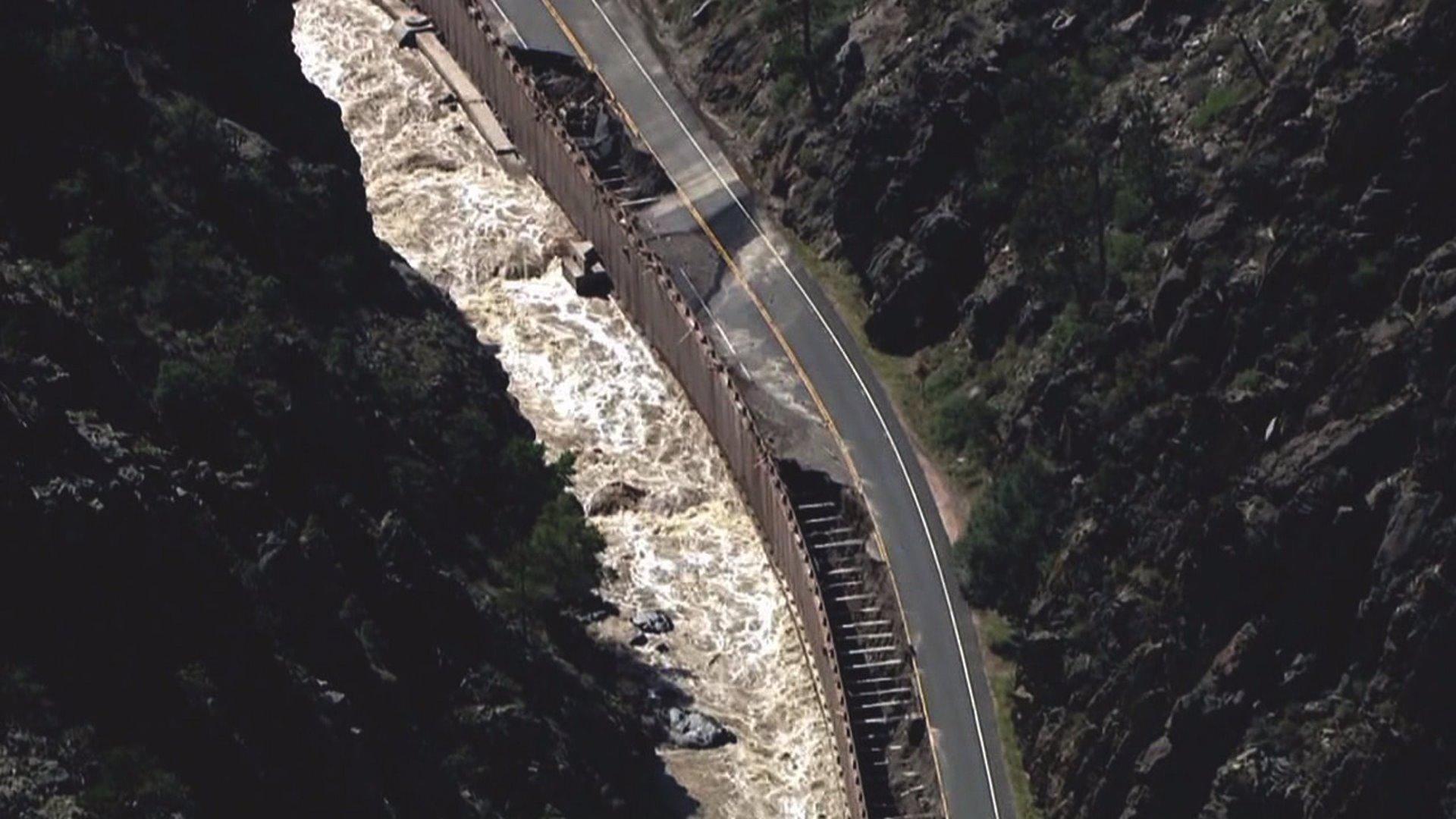 Road damaged in 2013 floods