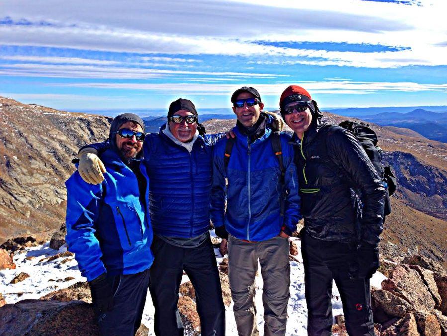 Jon Kedrowski, Jim Davidson, Alan Arnette, and Meteorologist Chris Tomer.