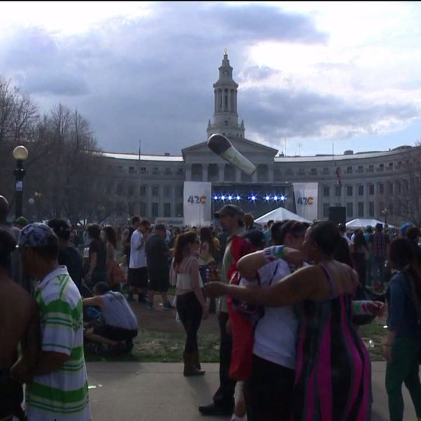 420 event at Civic Center Park in Denver
