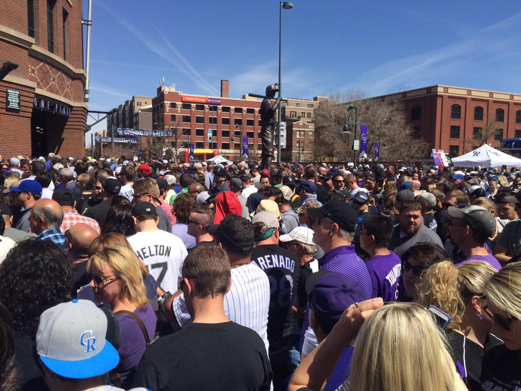 Coors Field opening day crowd