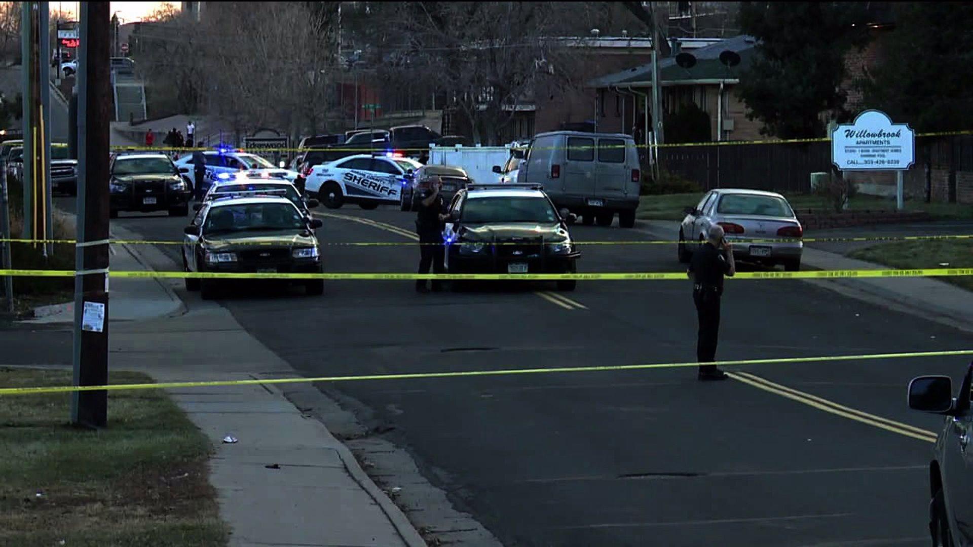 Crime scene in Denver