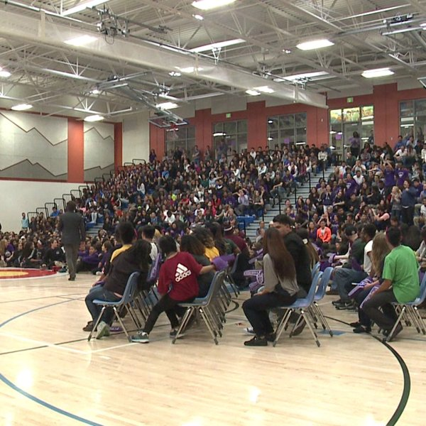 Green Valley Ranch HS college rally