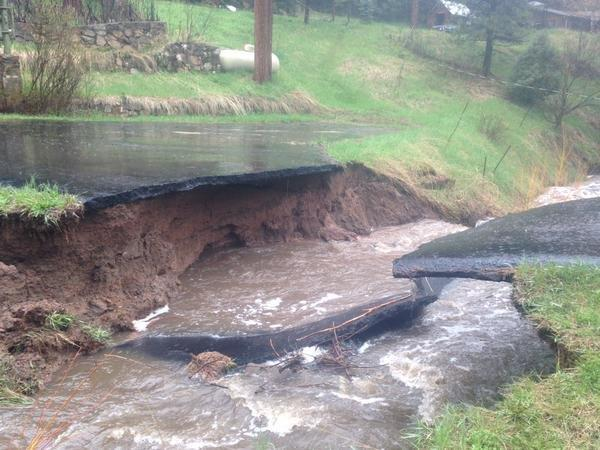 Many driveways washed out along South Turkey Creek Rd. (Photo: Inter-Canyon Fire Department)