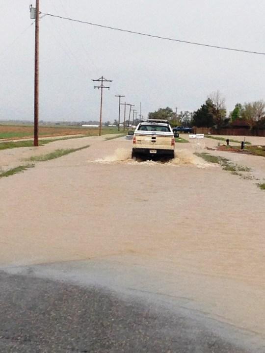 Flooded Morgan County roads. (Photo: viewer, Jodi)