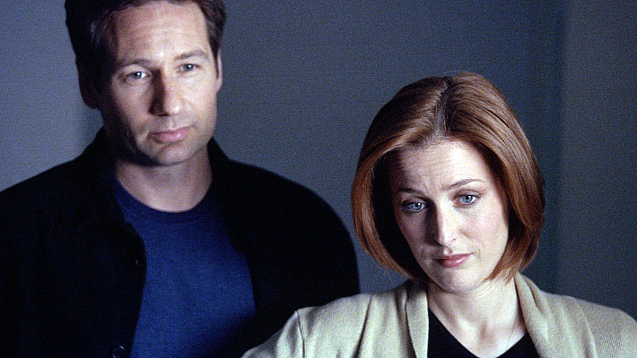 David Duchovny and Gillian Anderson of 'The X-Files'