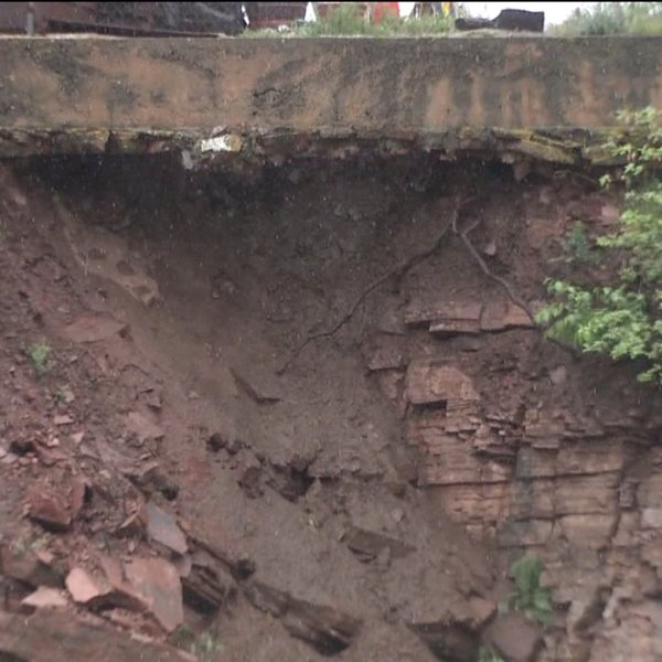 Erosion causing problem on property in Lyons, Colo.