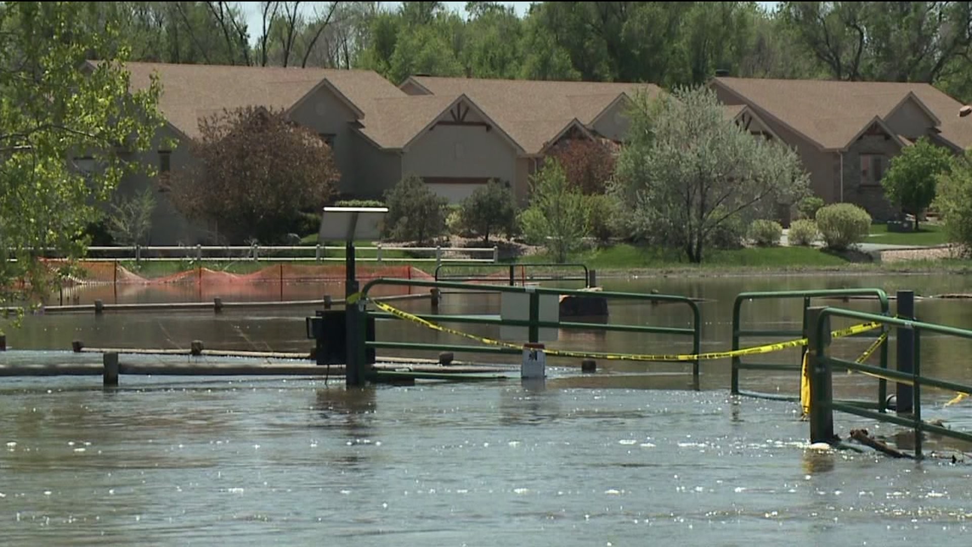 Poudre River floods in Greeley, Colo