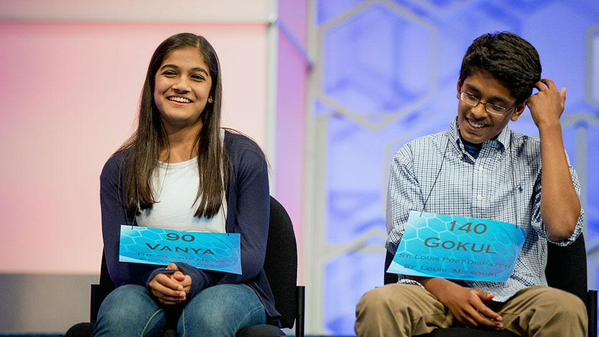 National Spelling Bee championship. Image from ESPN