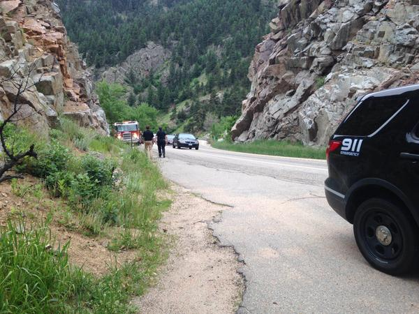Rescue teams gearing up to recover the body of a man in Boulder Creek. (Photo: Tak Landrock)