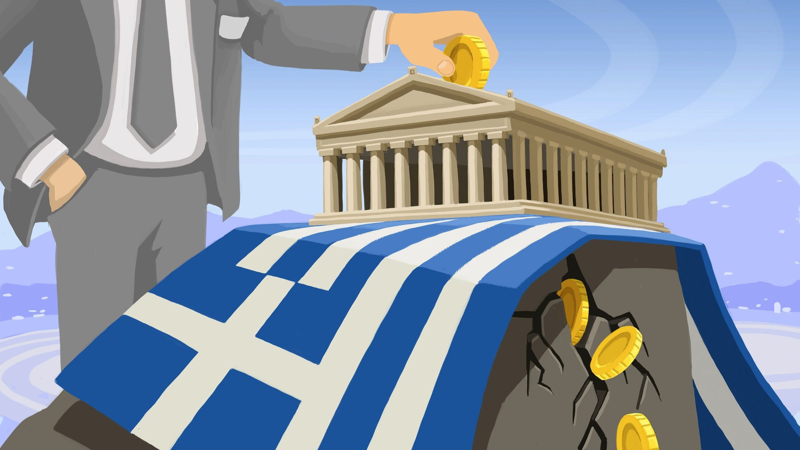 Wall Street is betting that there's about a 75% chance that Greece defaults on its debt. (Photo: CNN)