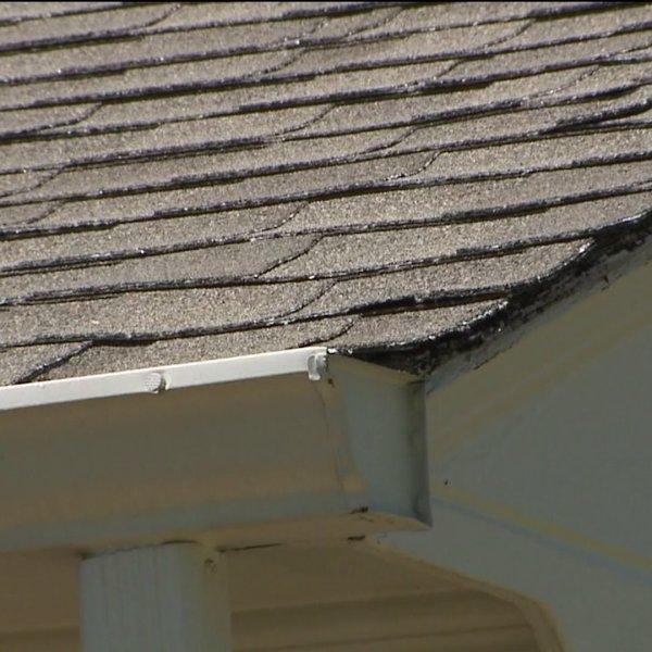 Hail-damaged roof