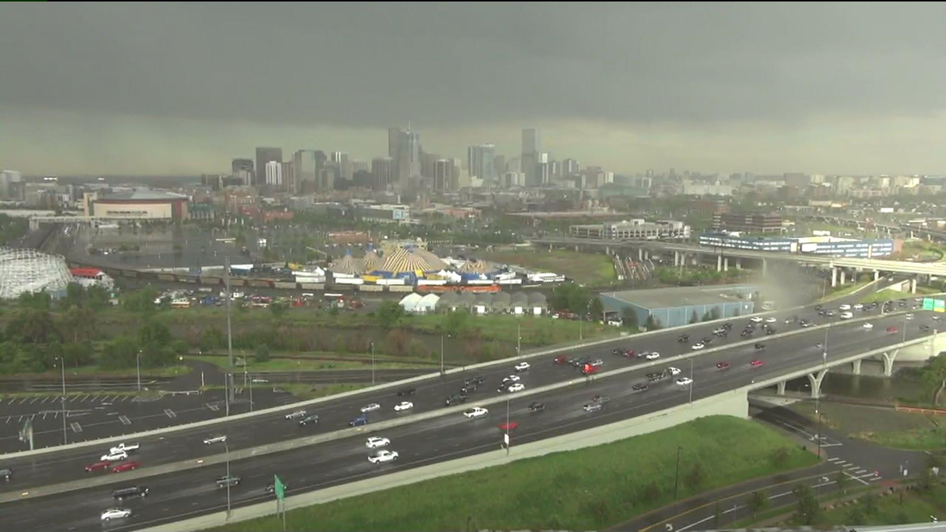 Heavy rain hits Denver