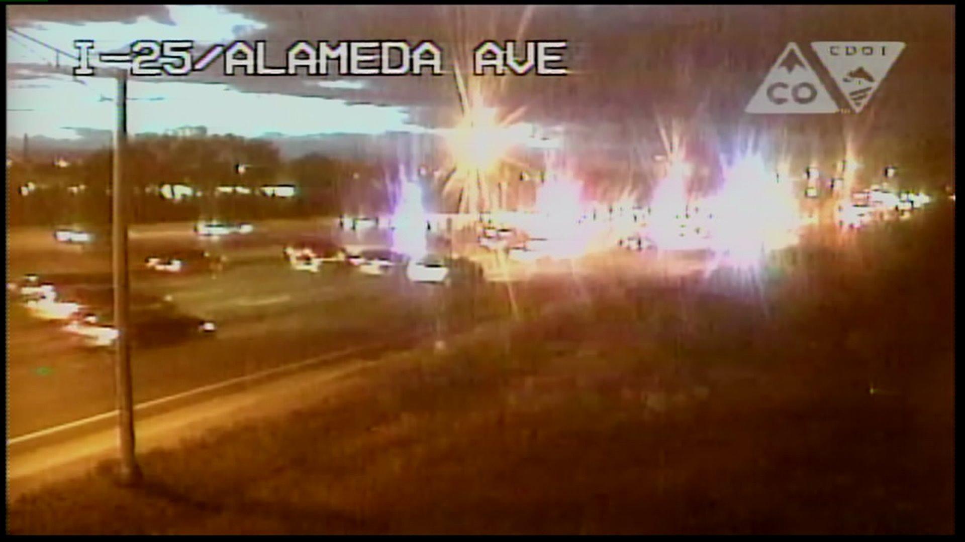 I-25 auto pedestrian crash