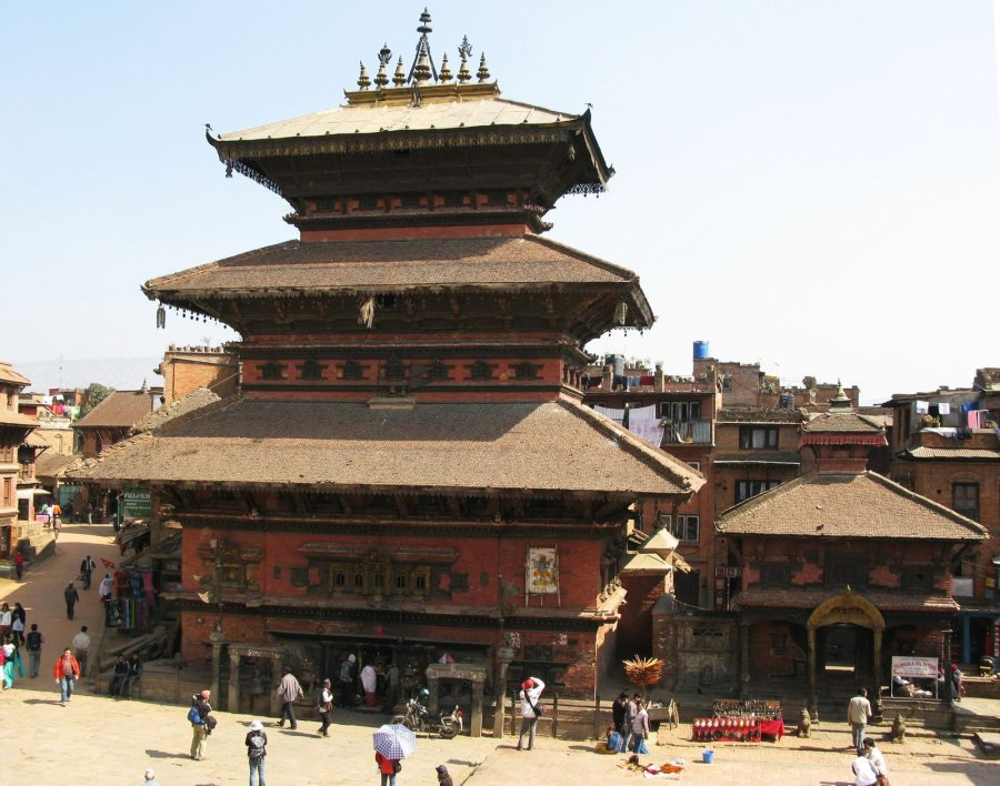 Witnesses were unable to immediately confirm what destruction occurred in lavish Bhaktapur, including this main pagoda seen here in February 2008. (Photo: CNN)