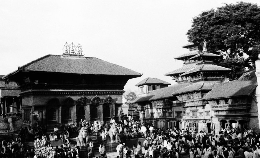 Kathmandu's brick-and-wood Shiva-Parvati Temple House in Durbar Square survived. (Photo: CNN)