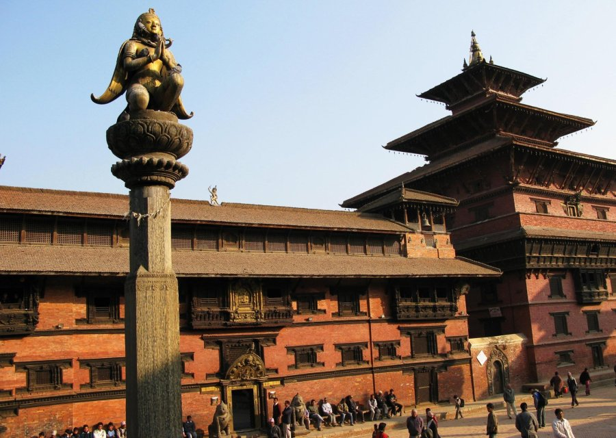 On Kathmandu's outskirts several key buildings appeared still standing in Patan's Durbar Square, including the Sundari Chowk temple seen in February 2008. (Photo: CNN)