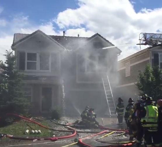 Fire on July 21,2015 in Meadows Neighborhood of Castle Rock, Colo. (Photo: Chris Jose)
