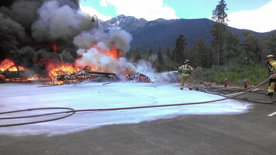 Amazing pictures of the Flight for Life helicopter crash in Frisco, CO. (Photo: Lake Dillion Fire)