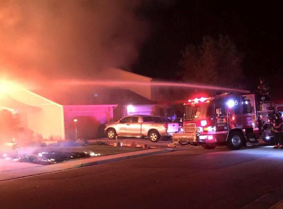 Garage fire started by discarded fireworks in Loveland on July 4, 2015. (Photo: Loveland Fire Rescue)