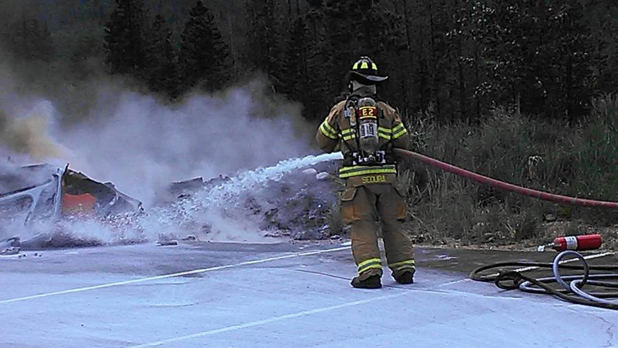 Flight for Life helicopter crash in Frisco, CO. (Photo: Lake Dillon Fire)