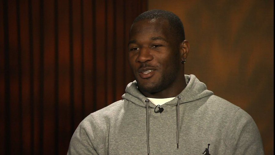 Derrick Coleman is a fullback for the Seattle Seahawks. He scored his first touchdown in the NFL on December 2, 2013. He's also the first legally deaf offensive player in the NFL. (Photo: CNN)