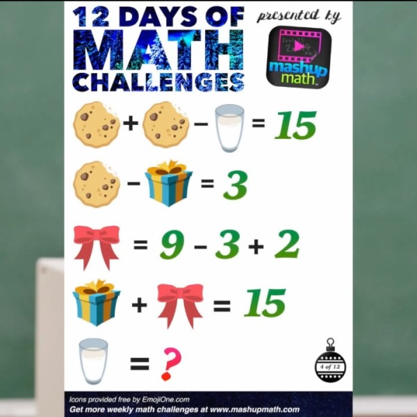 12 Days of Math Challenges