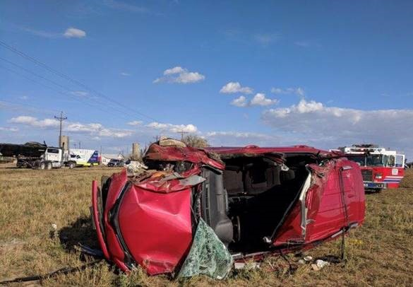 Fatal crash at E 168th Avenue and Havana Street in Adams County, Colorado. Photo credit: Brighton Fire Rescue