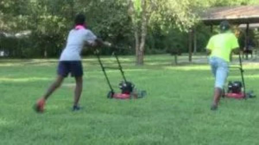 Virginia inmates donate lawnmowers to