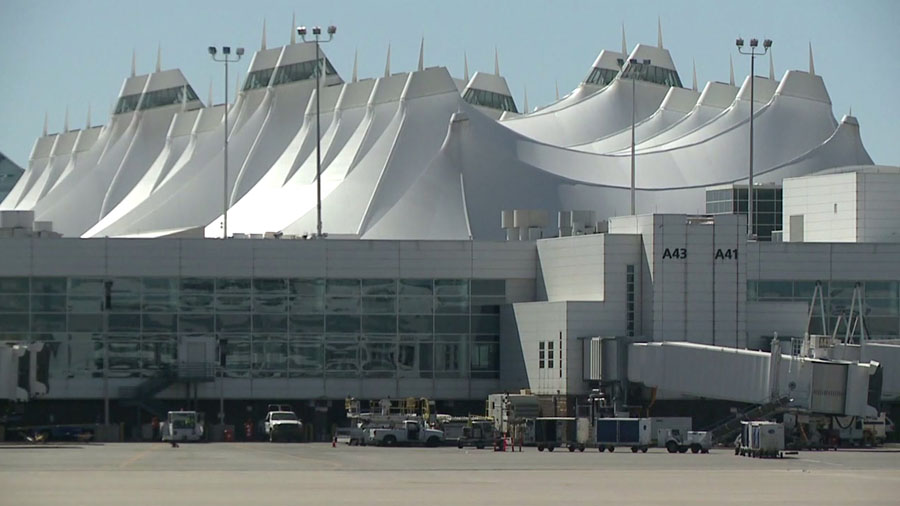 Delays at DIA due to weather, check status before heading to the airport